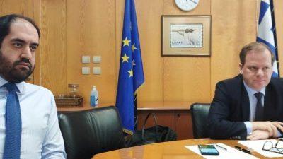 Παρέμβαση  Κώστα Καραμανλή, στην Τηλεδιάσκεψη των Υπουργών Μεταφορών της Ε.Ε. για τα μέτρα αντιμετώπισης του κορονοϊού