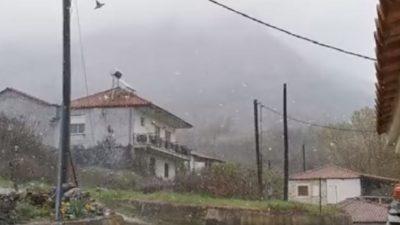ΠΕ Σερρών : Στα λευκά Βροντού και Καρυδοχώρι