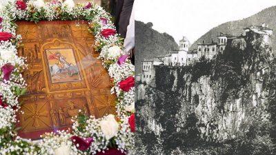 Δήμος Αμφίπολης :Υποδοχή της ιστορικής εικόνας του Αγ. Γεωργίου του Περιστερεώτα στην Παλαιοκώμη