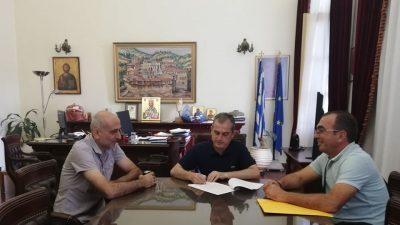 Π.Ε Σερρών : Υπεγράφη η σύμβαση για την εκτέλεση του έργου: «Αποκατάσταση βατότητας οδικού δικτύου Κρηνίδα – Όρια Ν. Καβάλας»