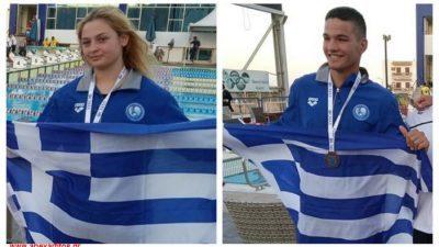 Σέρρες : Στην Εθνική ομάδα τεχνικής κολύμβησης Βαλαλας- Βακιρτζή