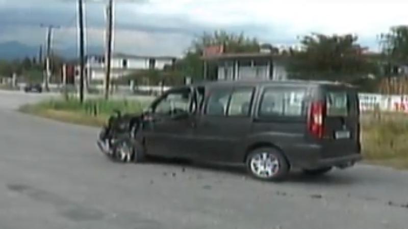 Σέρρες : Τροχαίο -σύγκρουση Ι.Χ αυτοκινήτων στην οδο Φλωρίνης