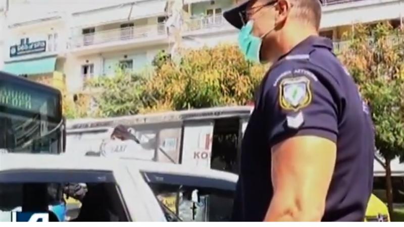 Σέρρες : Πρόστιμο για μη χρήσης μάσκας σε επιβάτη  ταξί on camera ( βιντεο )