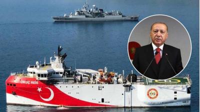 Προκλητικός και θρασύς ο Ερντογάν: «Γελοίες και αβάσιμες οι ελληνικές αξιώσεις… Επιχειρεί στην ελληνική υφαλοκρηπίδα το Oruc Reis