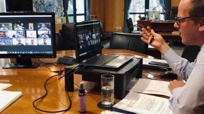 Τηλεδιάσκεψη Κώστα Καραμανλή με τους περιφερειάρχες για την χρηματοδότηση έργων  από το ταμείο ανάκαμψης