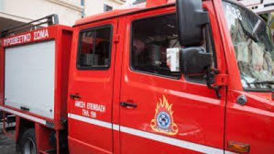 Σέρρες : Φορτηγό τυλίχθηκε στις φλόγες