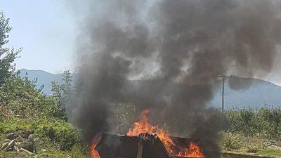 Δήμος Ηράκλειας : Τα σκουπίδια με την φωτιά ¨΄εξαφανίζονται ¨¨ ( φωτο )