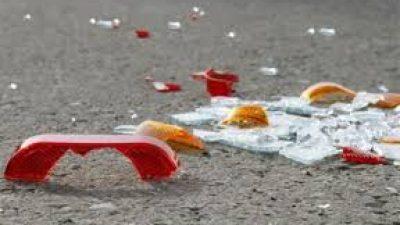 Σέρρες : Τροχαίο με τριπλή σύγκρουση ΙΧ στην οδό Ομήρων