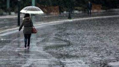 Ραγδαία επιδείνωση του καιρού από απόψε -Βροχές, καταιγίδες και χαλάζι