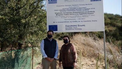 Δήμος Αμφίπολης : Επίσκεψη Σχοινά – Μενδώνη στον λόφο Καστά