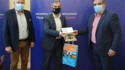 Π.Ε Σερρών : Συνάντηση Σπυρόπουλου με τον  γεν γραμματέα της ΓΣΕΒΕΕ