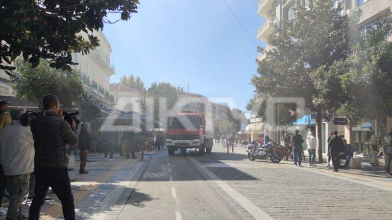 Σέρρες :  Έκρηξη και φωτιά σε  κατάστημα υαλικών στο κέντρο της πόλης