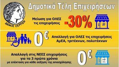 Δήμος Σερρών : Ομόφωνα η πρόταση για την μείωση των δημοτικών τελών