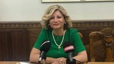 Σέρρες : Συνέντευξη τύπου της Χρυσάνθης Παλάζη