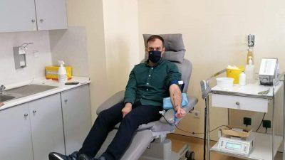 ΝΟΔΕ Σερρών : Εθελοντικη αιμοδοσία Χατζηβασιλείου και συνεργατών του