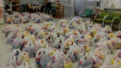 Δήμος Σερρών : Διανομή τροφίμων σε 80 οικογένειες