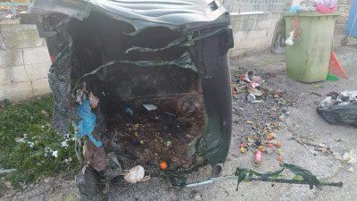 Δήμος Αμφίπολης : Φωτιά σε κάδο – Αφηρημάδα  ή βλακεία ????