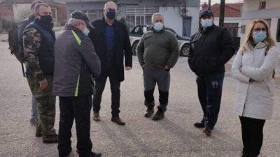 Σύριζα Σερρών : Περιοδεια Αβραμάκη και κλιμακιου στις πληγείσες περιοχές Βισαλτίας και Παππά