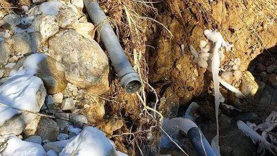 Δήμος Βισαλτίας : Αποκαταστάθηκε η βλάβη στον αγωγό υδροδότησης του Αηδονοχωρίου