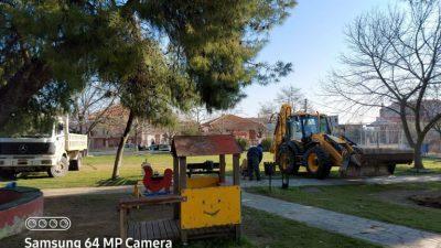 Δήμος Βισαλτίας : Ξεκίνησαν οι εργασίες αναβάθμισης των παιδικών χαρών