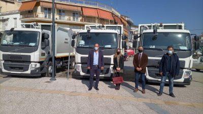 Δήμος Βισαλτίας : Παραλαβή νέων απορριμματοφόρων
