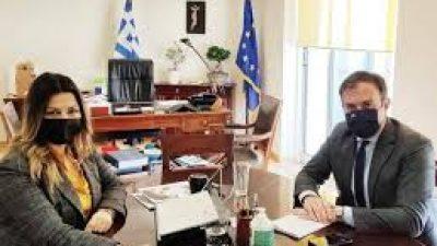 Συνάντηση εργασίας Τ.Χατζηβασιλείου με την Υφυπουργό Τουρισμού Σ.Ζαχαράκη