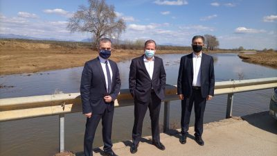 Δήμος Βισαλτίας : Αυτοψία Καραμανλη -Σπυρόπουλου στις αντιπλημμυρικές εργασίες