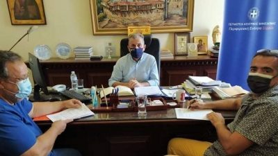 ΠΕ Σερρών : Έργα συντήρησης αύλειου χώρου του διοικητηρίου