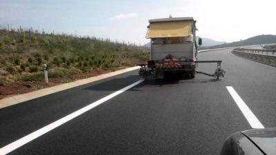 Π.Ε Σερρών : Εργασίες διαγράμμισης του οδοστρώματος σε τμήματα των οδικών αξόνων: